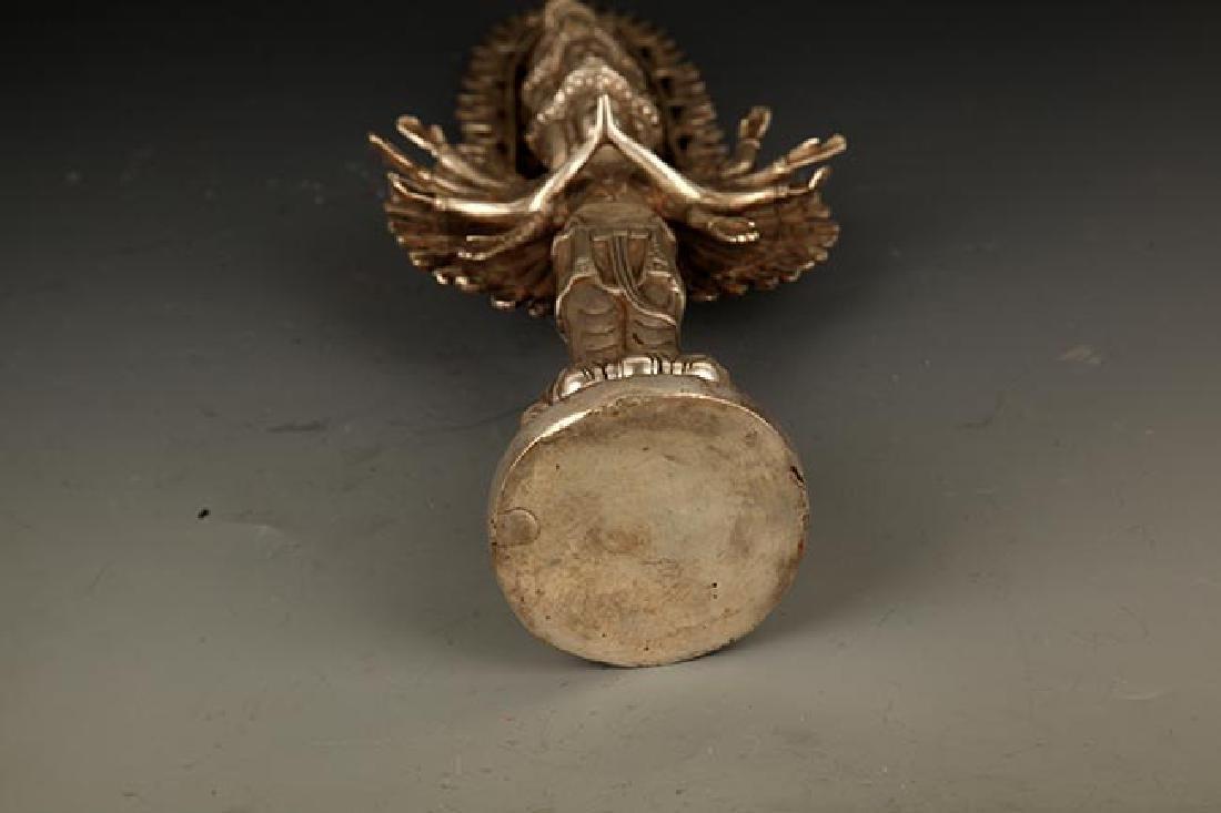 A FINE TIBETAN THOUSAND HAND GUAN YIN BUDDHA - 9