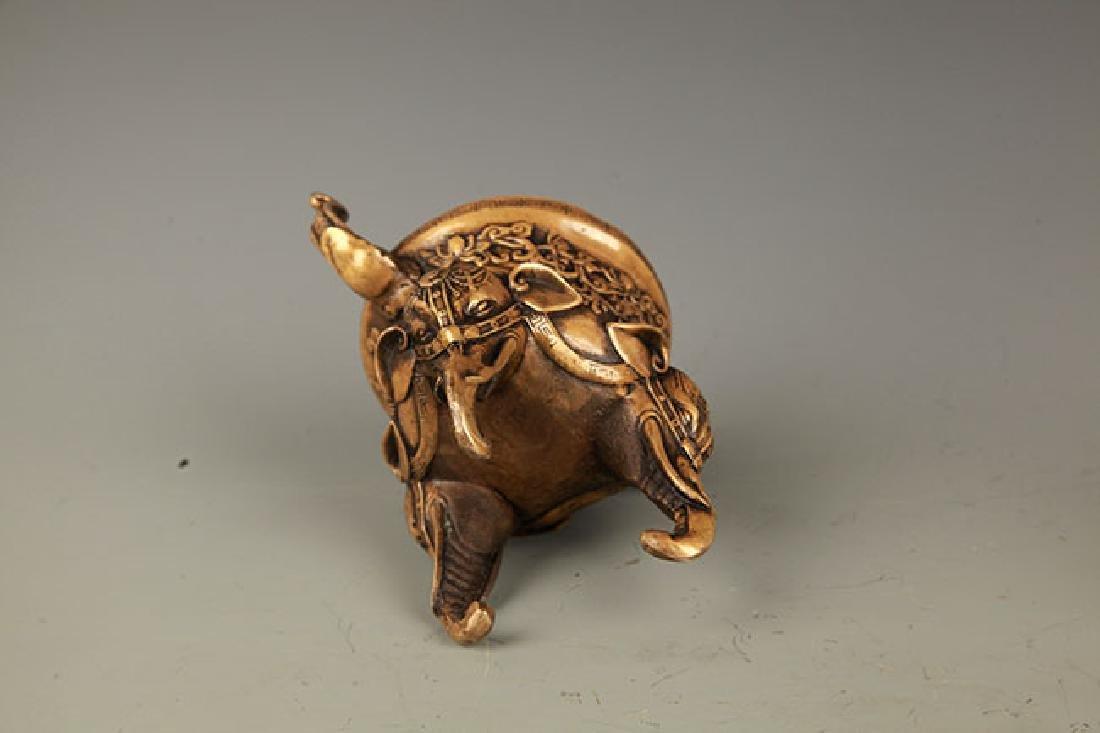 A FINE ELEPHANT FIGURE BRONZE AROMATHERAPY - 6