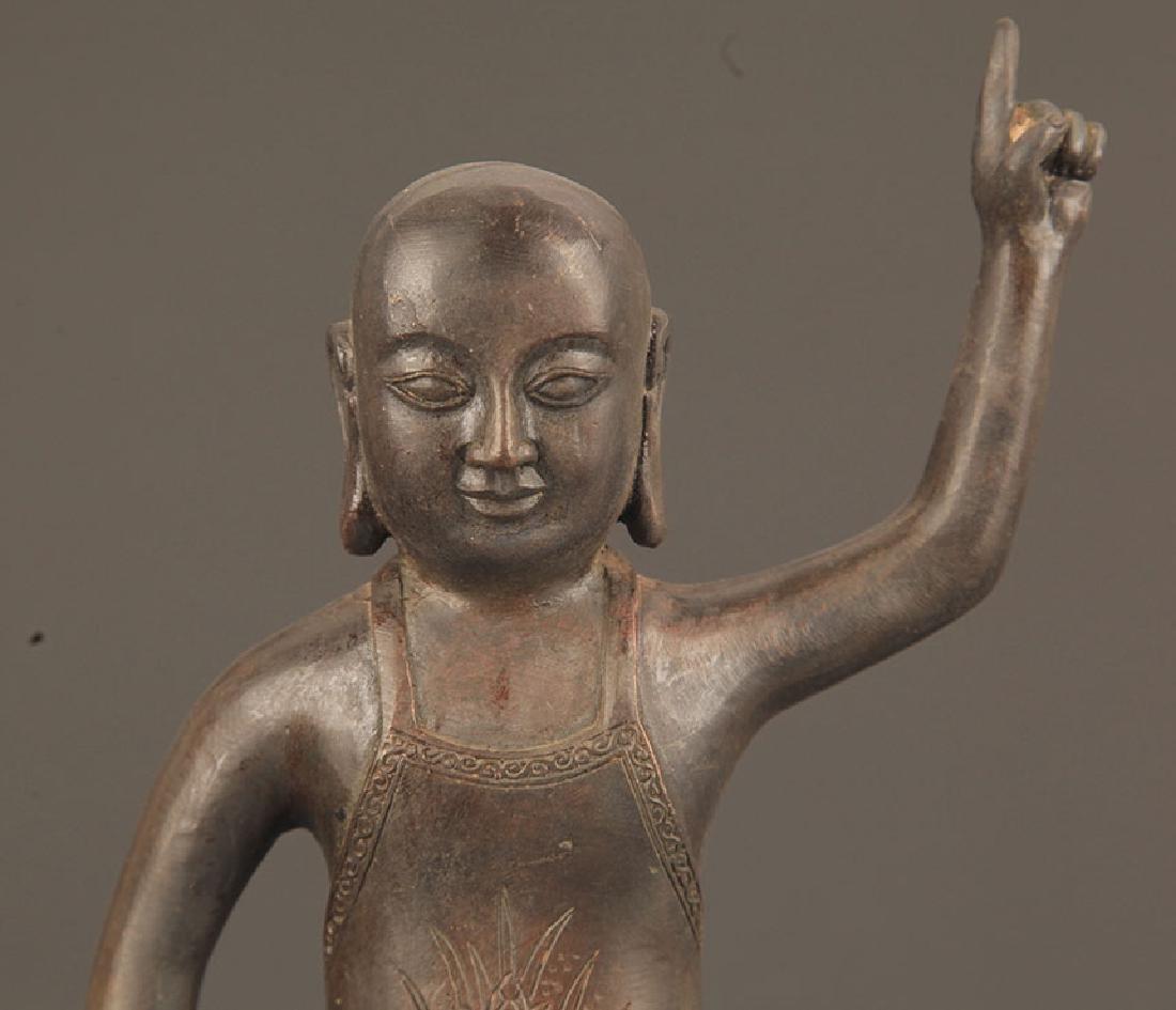 TIBETAN BUDDHISM BRONZE AKSHOBHYA BUDDHA - 2