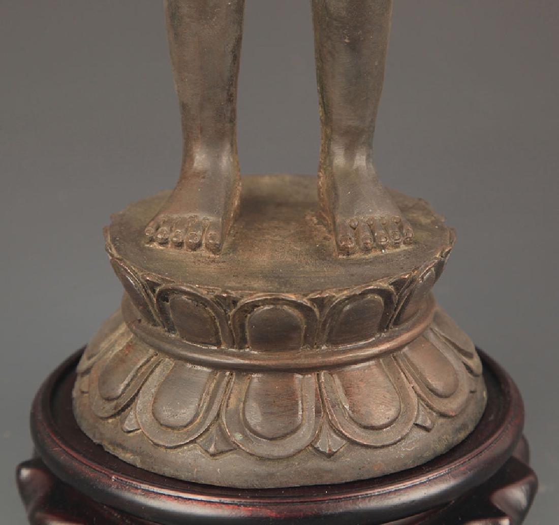 TIBETAN BUDDHISM BRONZE AKSHOBHYA BUDDHA - 3