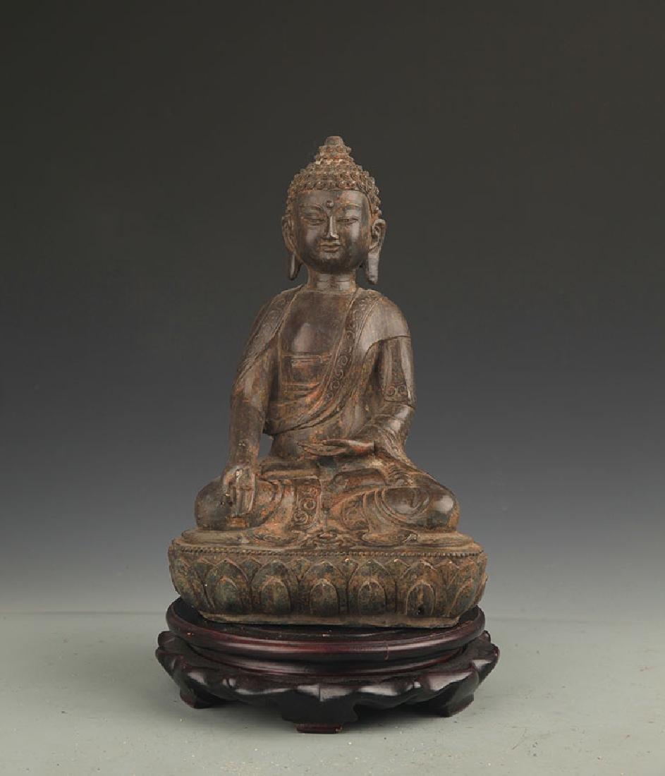 BRONZE BHAISAJYAGURU BUDDHA STATUE