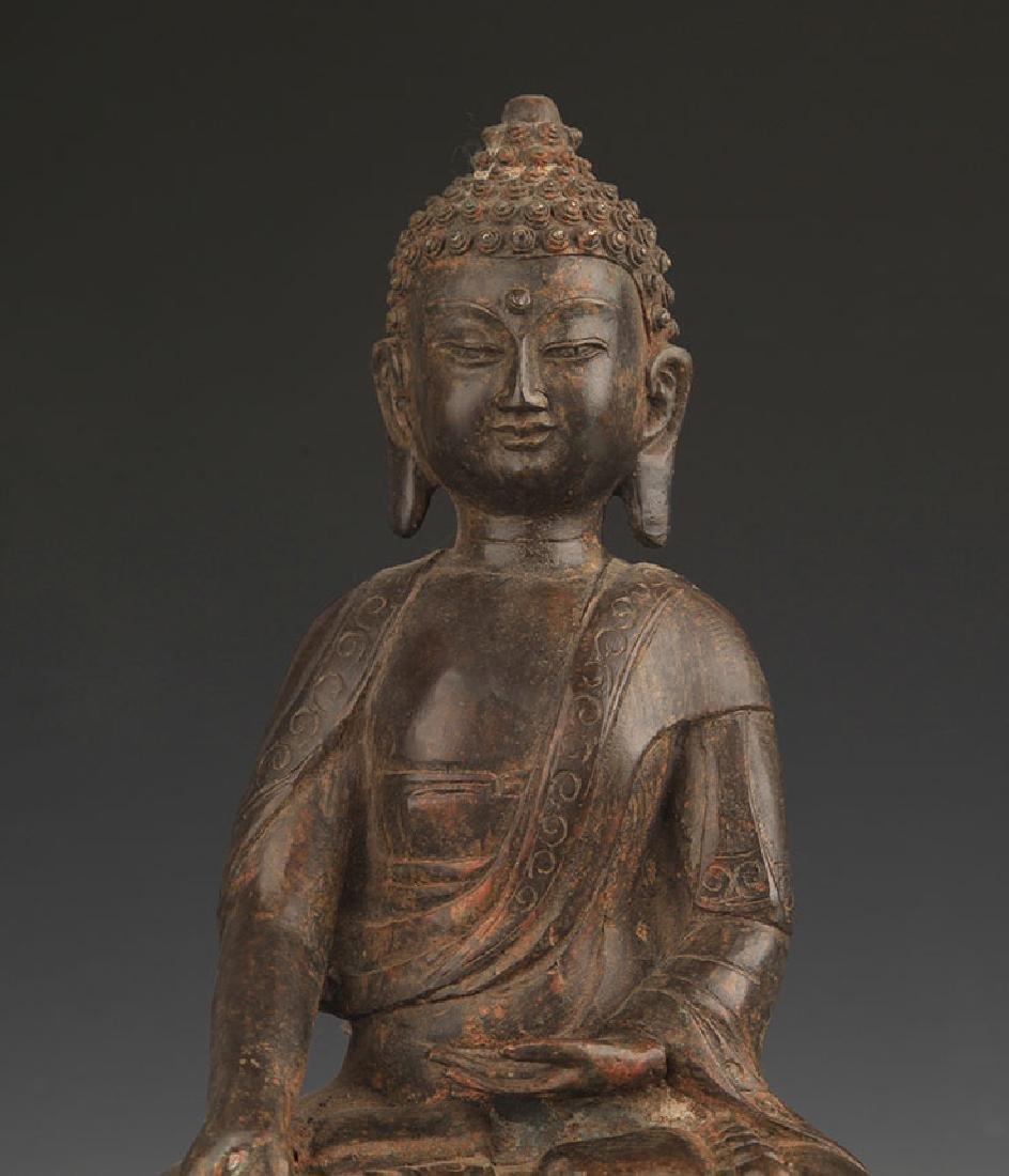 BRONZE BHAISAJYAGURU BUDDHA STATUE - 3