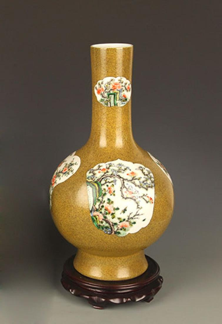 GLAZED PORCELAIN LONG NECK JAR
