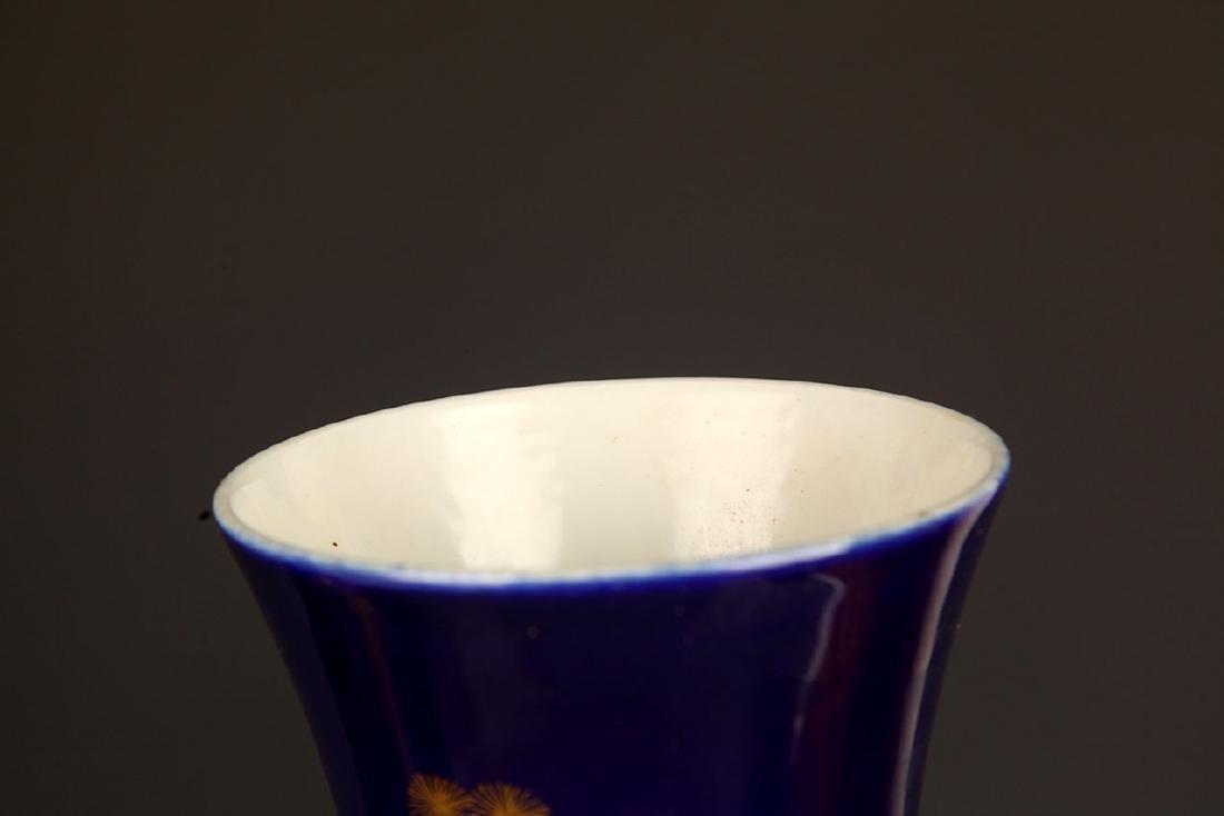 BLUE COLOR WITH DRAGON PORCELAIN JAR - 2