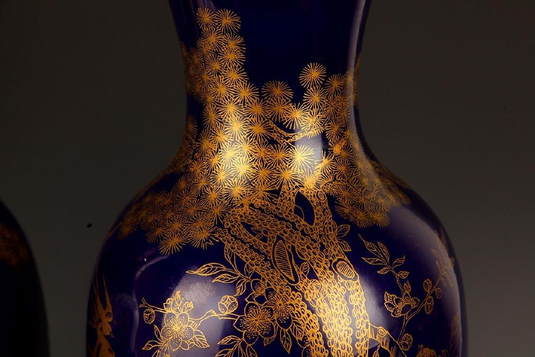BLUE COLOR WITH DRAGON PORCELAIN JAR - 3