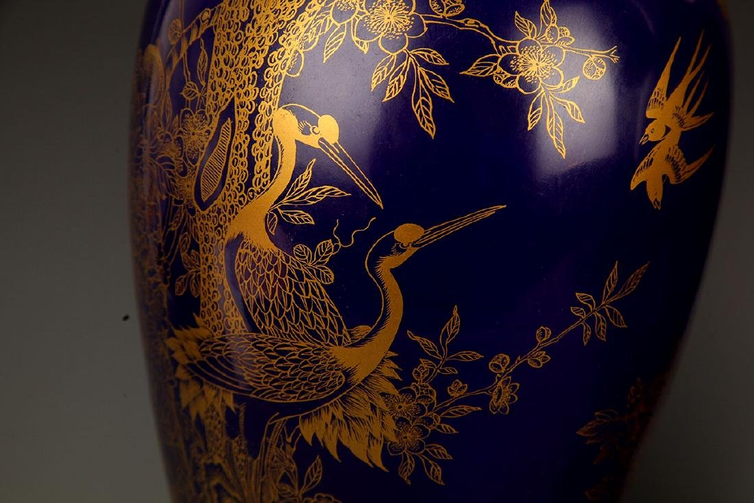 BLUE COLOR WITH DRAGON PORCELAIN JAR - 4