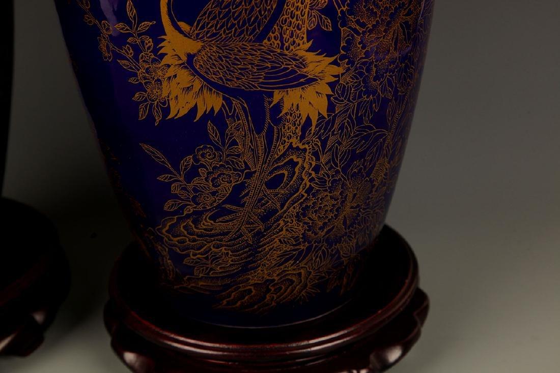 BLUE COLOR WITH DRAGON PORCELAIN JAR - 5