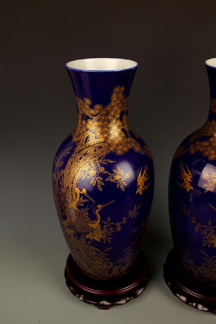 BLUE COLOR WITH DRAGON PORCELAIN JAR - 6