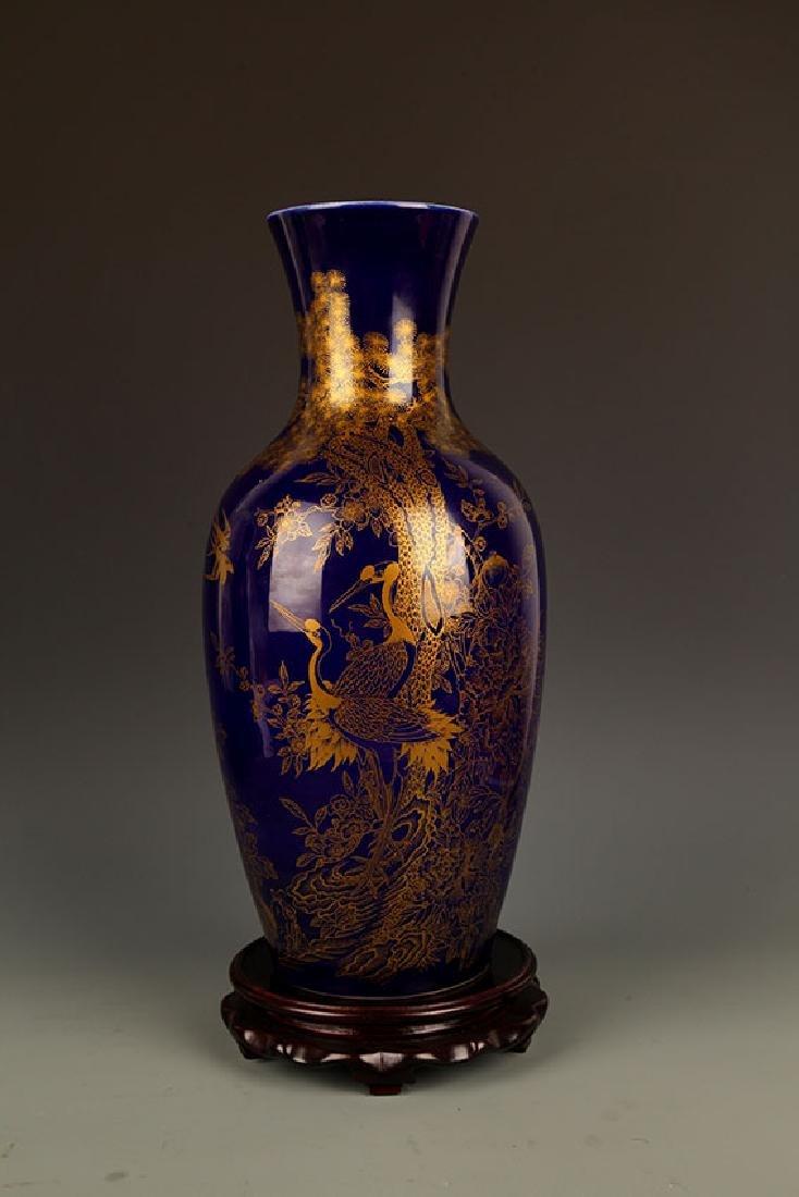 BLUE COLOR WITH DRAGON PORCELAIN JAR - 7
