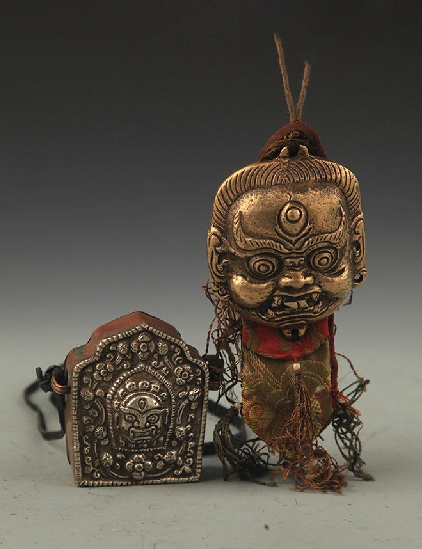 GROUP OF FINE TIBETAN BUDDHISM RELIGIOUS OBJECT
