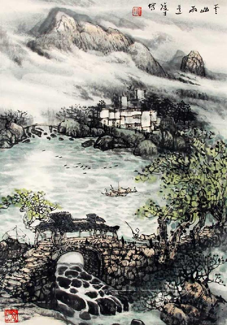 WANG FU CAI, CHINESE PAINTING ATTRIBUTED TO