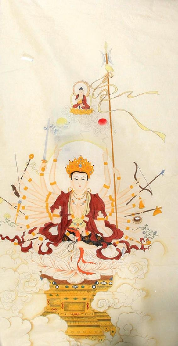 A FINE CHINESE PAINTING BUDDHA FIGURE