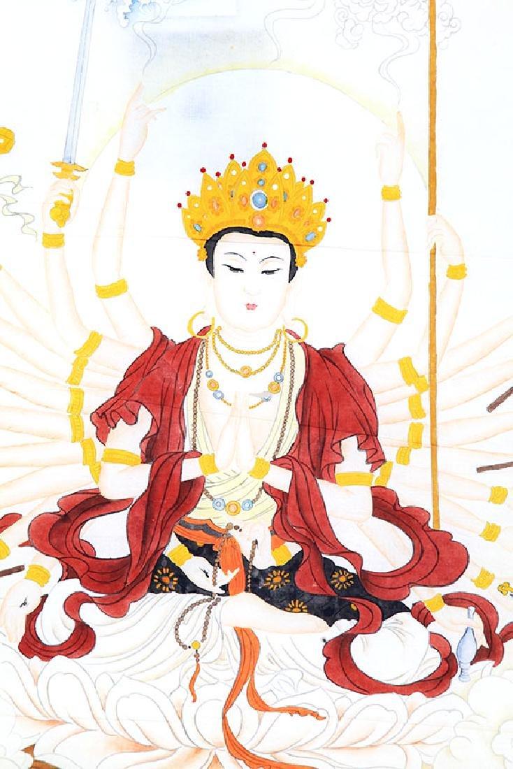 A FINE CHINESE PAINTING BUDDHA FIGURE - 2