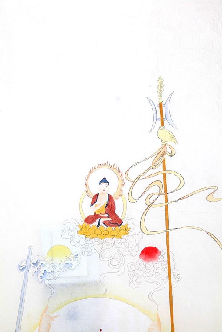 A FINE CHINESE PAINTING BUDDHA FIGURE - 3