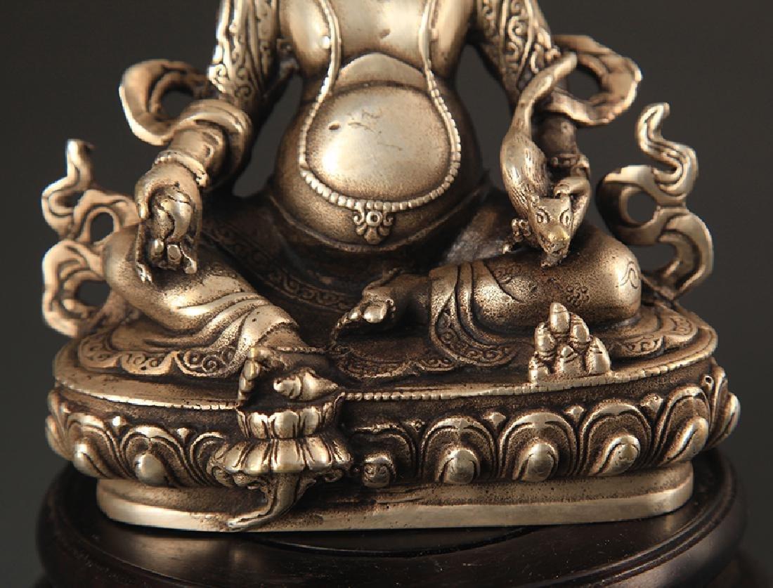 A TIBETAN BUDDHISM JAMBHALA STATUE - 3