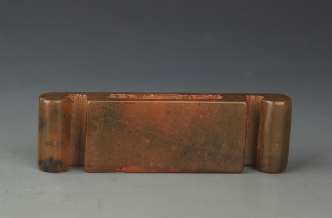 COPY OF FINE OLD JADE SWORD HANDLE - 3