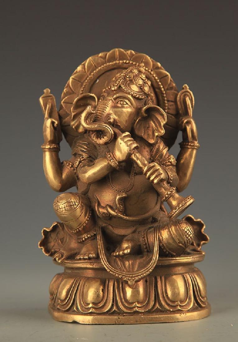 TIBETAN BUDDHISM BRONZE GOD OF WEALTH