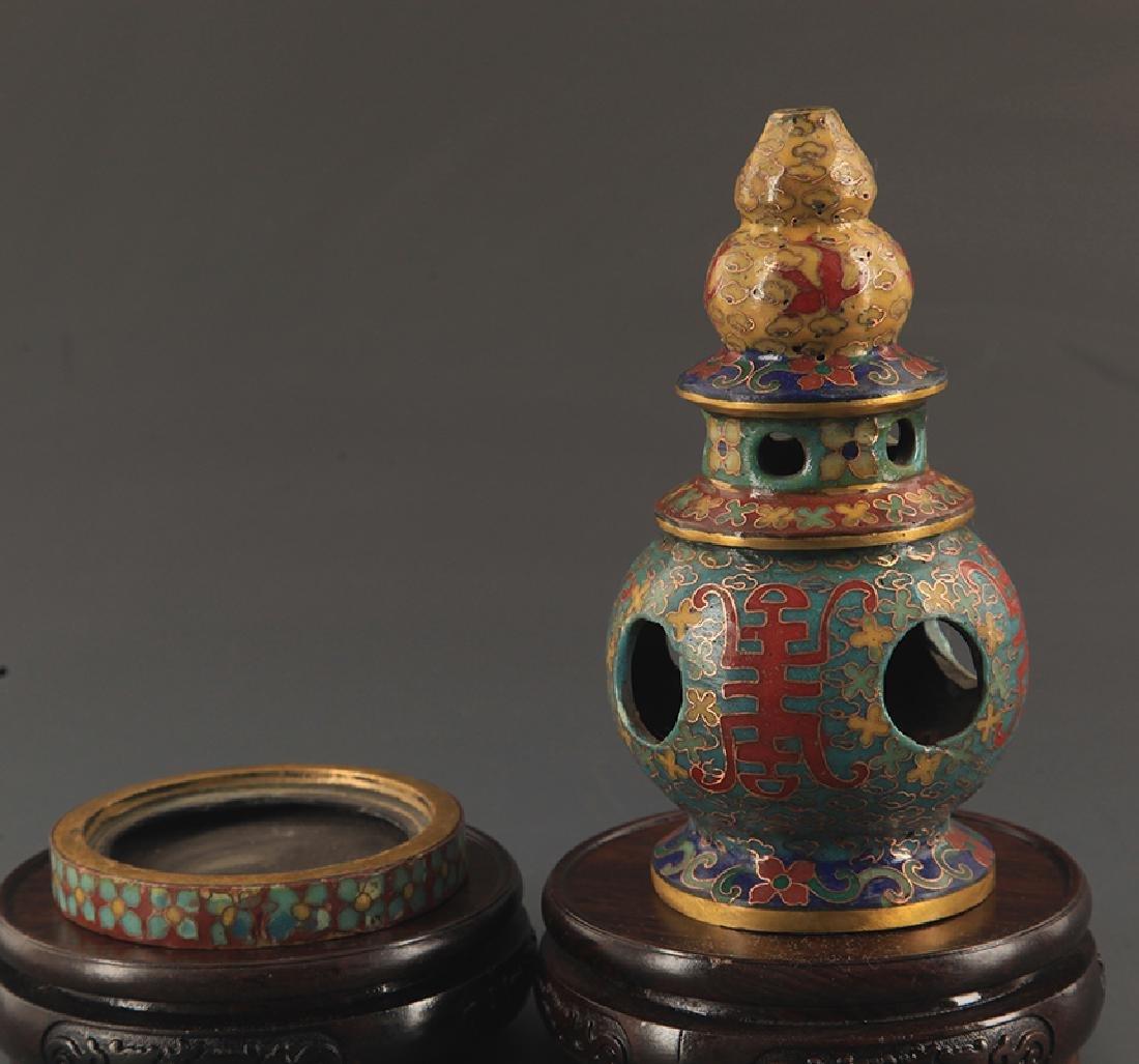 CLOISONNE ENAMEL BUDDHA TOWER STYLE AROMATHERAPY - 2