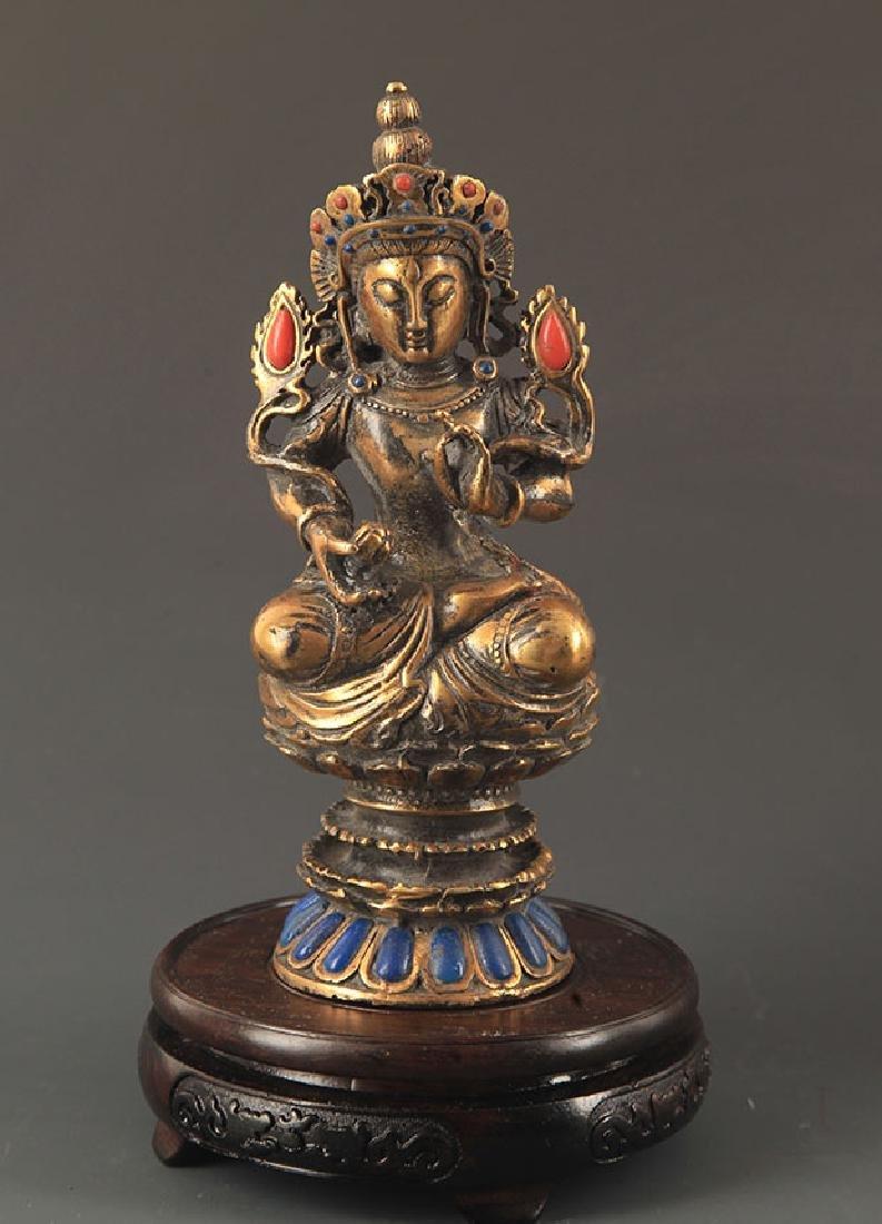 A MANJUSRI BUDDHA FIGURE