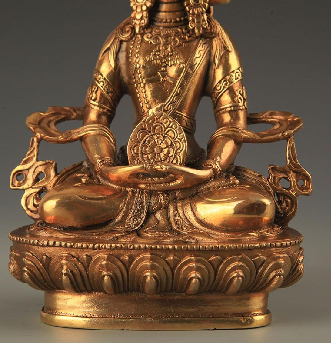 TIBETAN BUDDHISM THREE SIDES VAIROCANA STATUE - 3