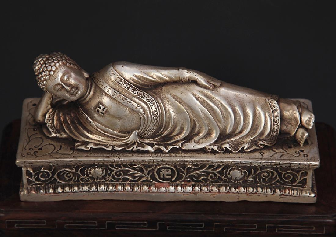 A TIBETAN BUDDHISM SLEEPING BUDDHA - 3