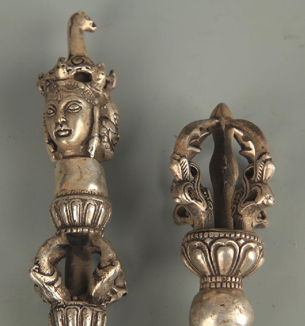 TIBETAN BUDDHISM BRONZE VAJAR - 2