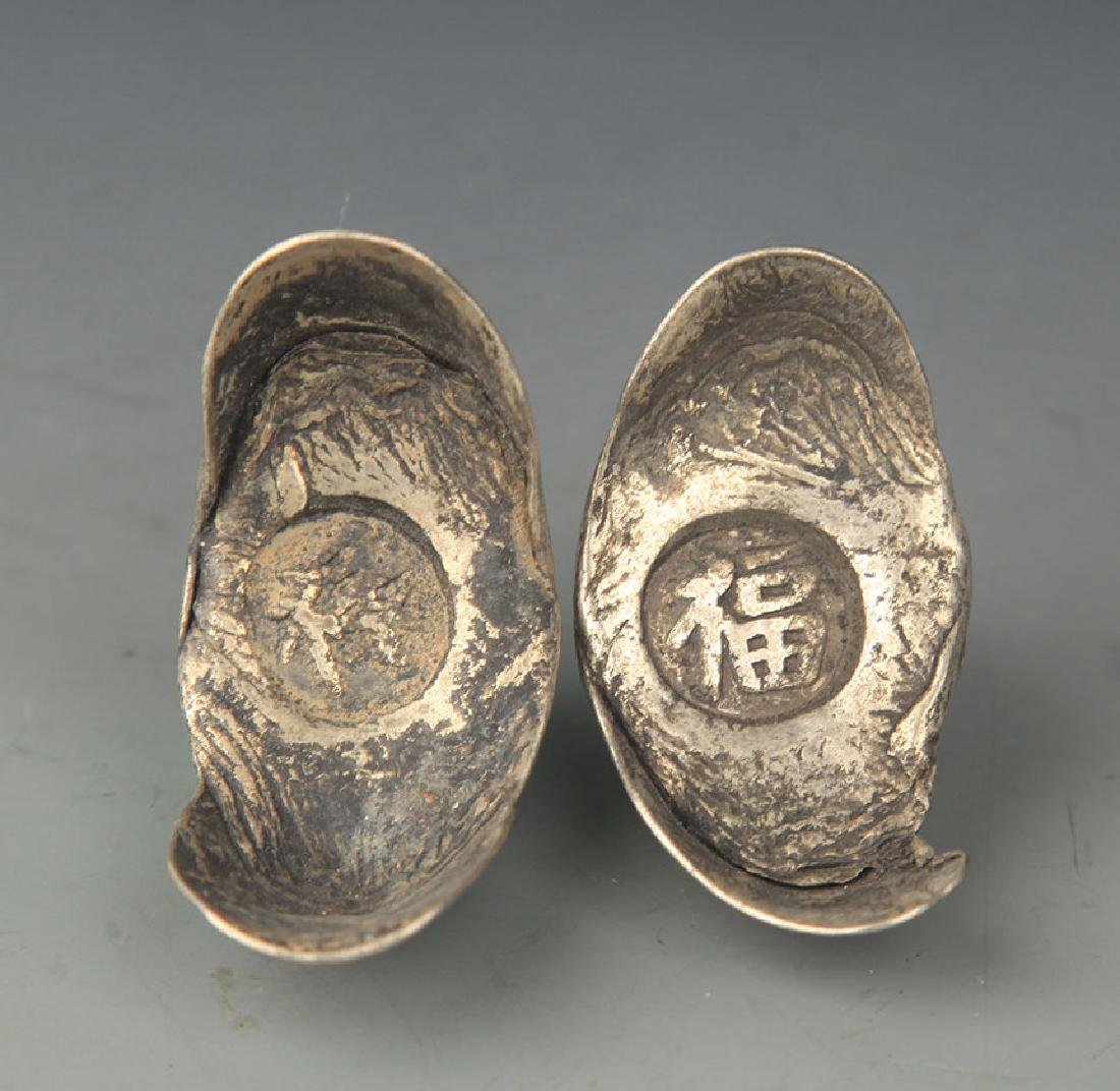 COPIES OF CHINESE LONGEVITY SILVER INGOT - 2