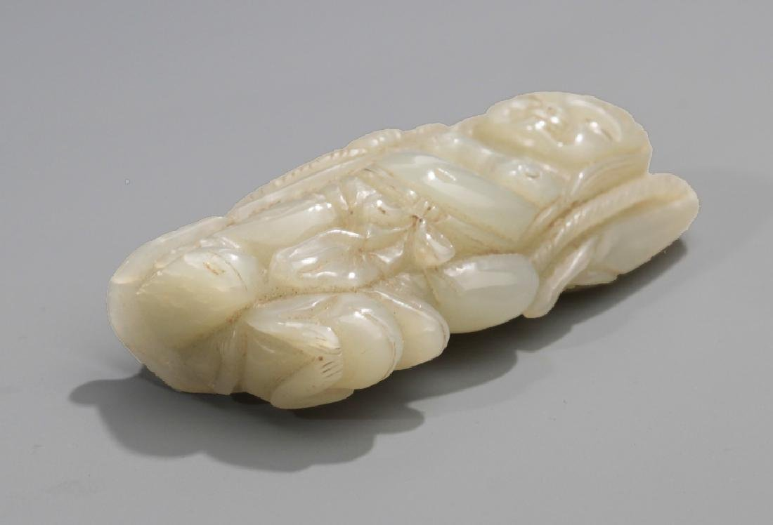 A FINE CHINESE CHARACTER STYLE HE TIAN JADE - 3