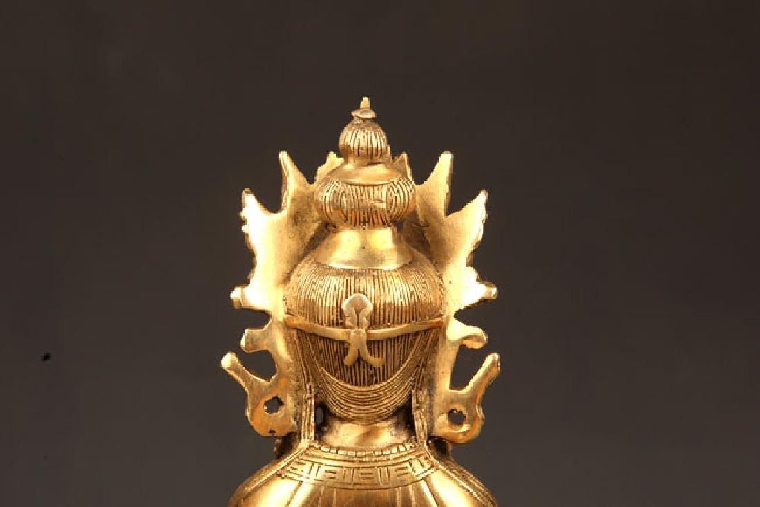 A FINELY CARVED TIBETAN VAJRASATTVA BUDDHA - 7
