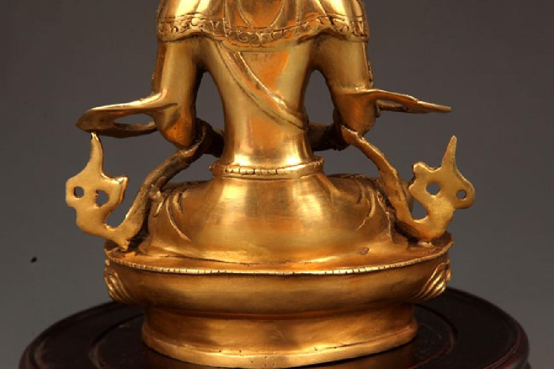 A FINELY CARVED TIBETAN VAJRASATTVA BUDDHA - 8