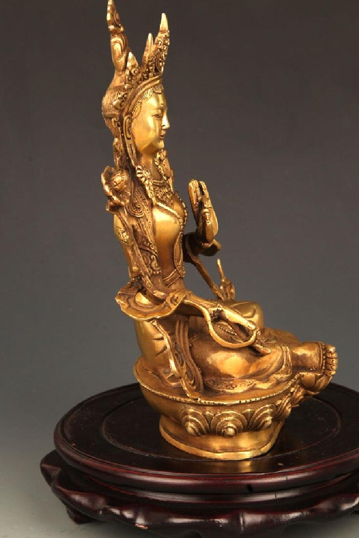 A FINELY CARVED TIBETAN BUDDHA - 5
