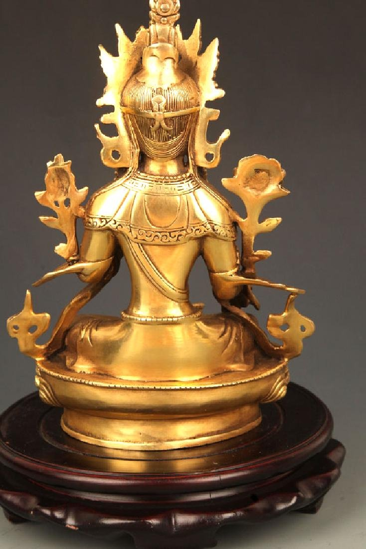 A FINELY CARVED TIBETAN BUDDHA - 6