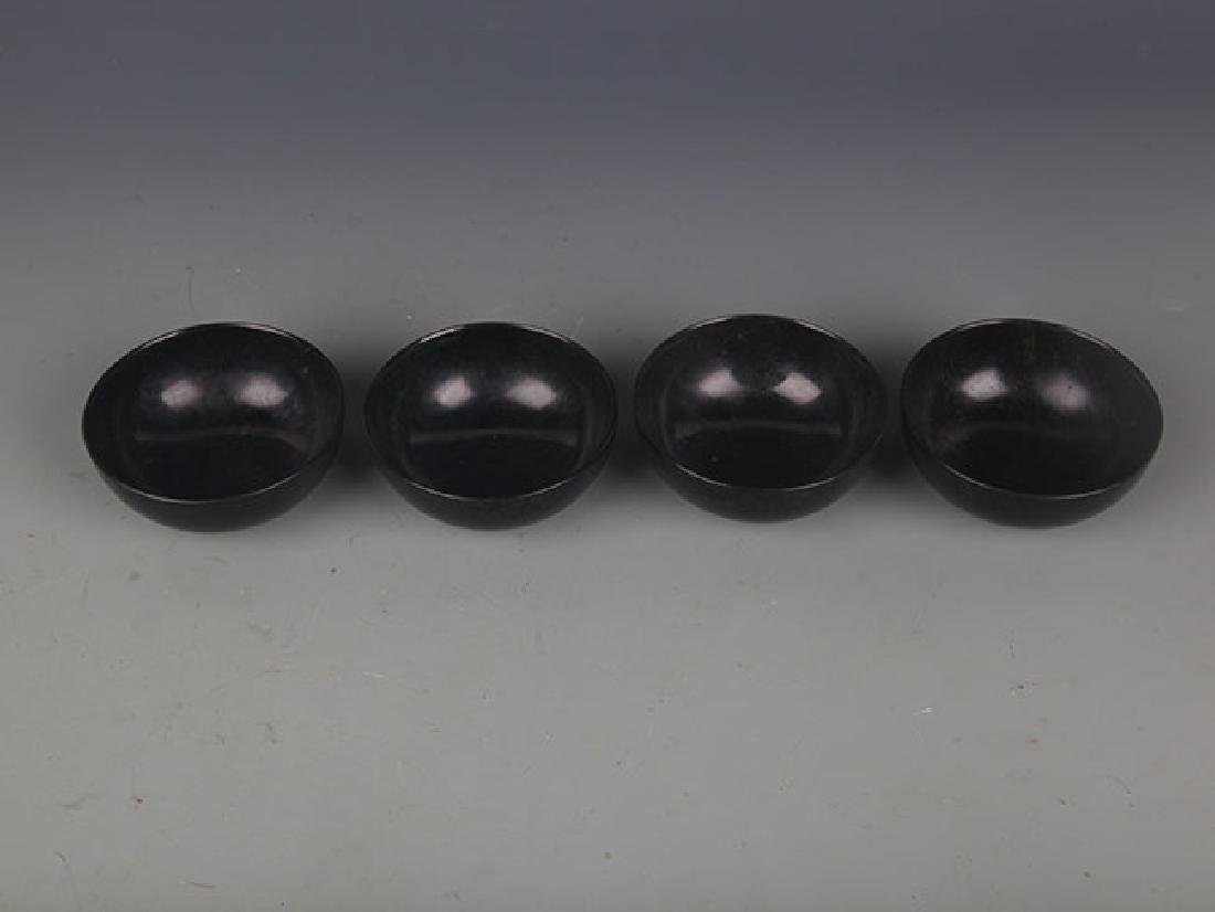 SET OF FOUR FINE JADE CUP - 2