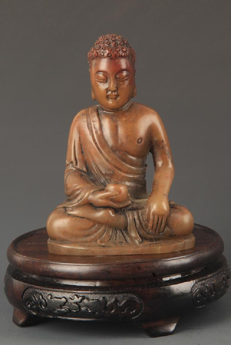 SHOUSHAN STONE PHARMACIST BUDDHA STATUE