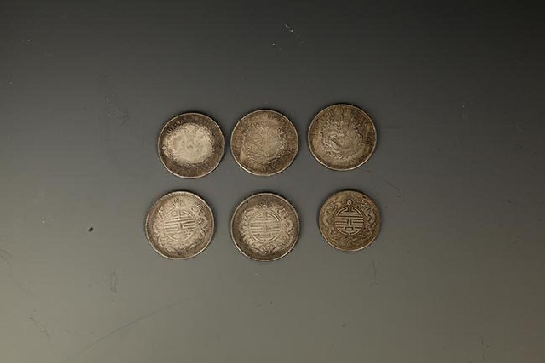 GROUP OF 6 OLD CHINESE COIN