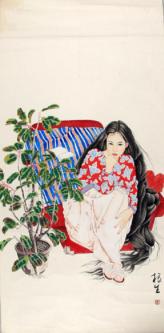 WANG GEN SHENG, CHINESE PAINTING ATTRIBUTED TO