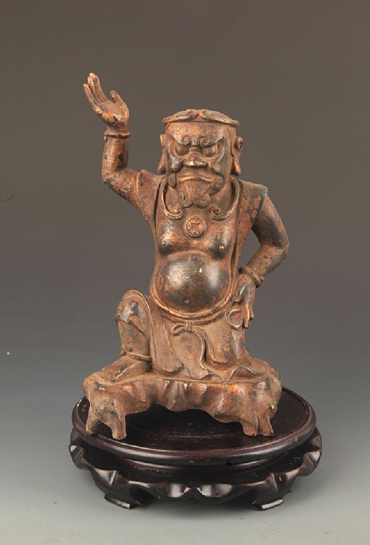 A FINE BRONZE MAHAKALA BUDDHA STATUE