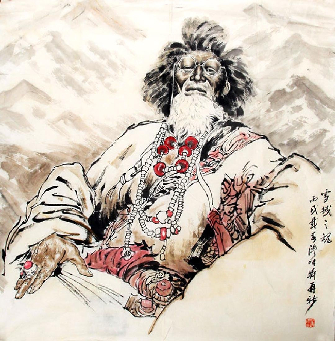 BIAO ZAI XIN, CHINESE PAINTING ATTRIBUTED TO