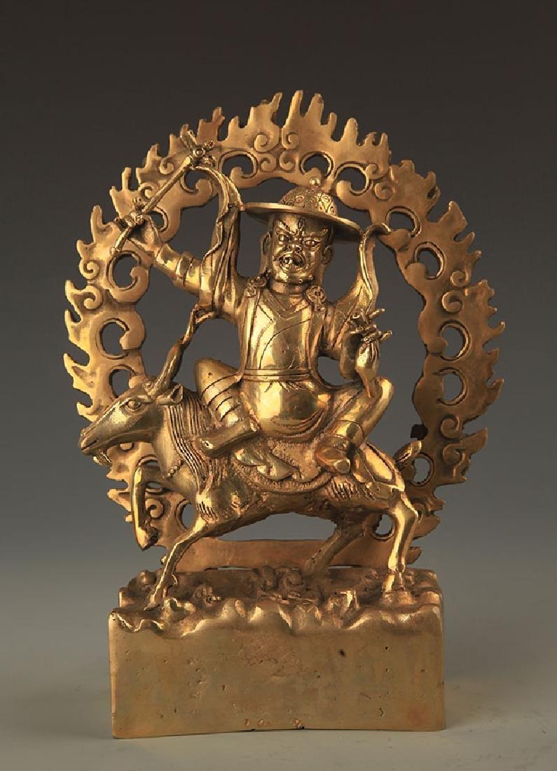A FINE TIBETAN ACALANATHA BUDDHA STATUE