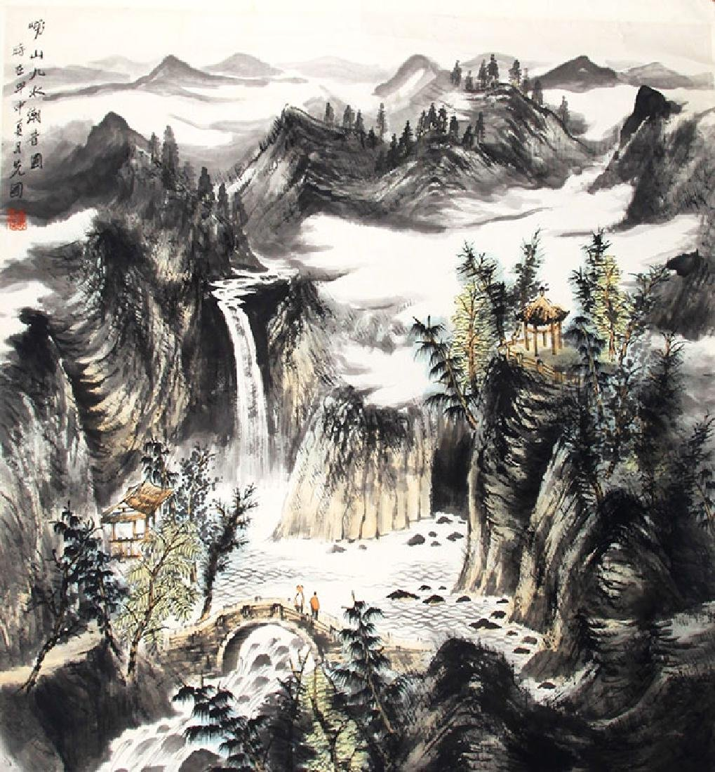ZENG XIAN GUO, CHINESE PAINTING ATTRIBUTED TO