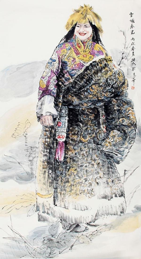 REN JI MIN, CHINESE PAINTING ATTRIBUTED TO
