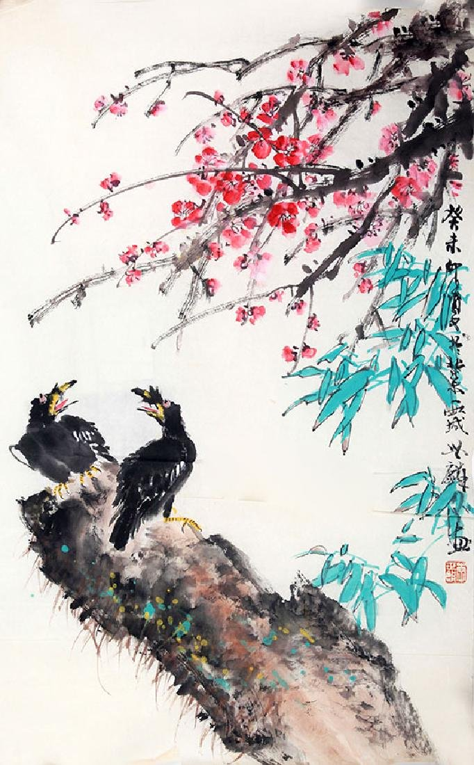 LI SHI LIN CHINESE PAINTING (ATTRIBUTED TO )