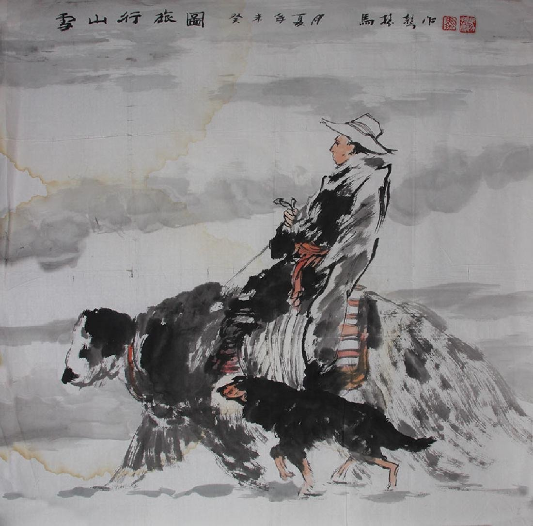 MA ZHEN SHENG CHINESE PAINTING ATTRIBUTED TO