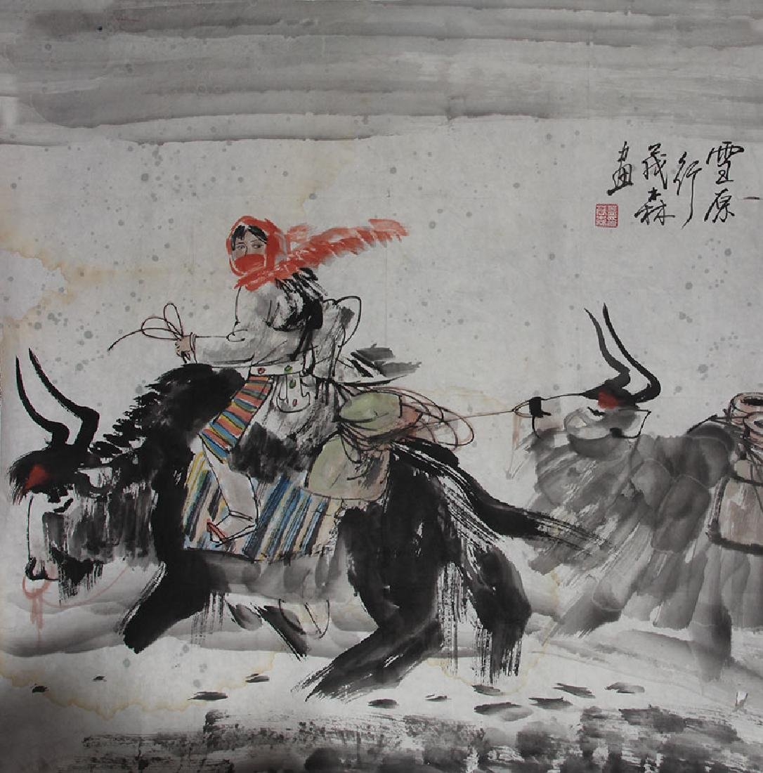 GAI MAO LIN CHINESE PAINTING ATTRIBUTED TO