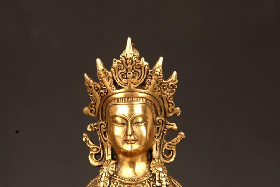 BRONZE TIBETAN VAJRAYANA BUDDHA STATUE - 2