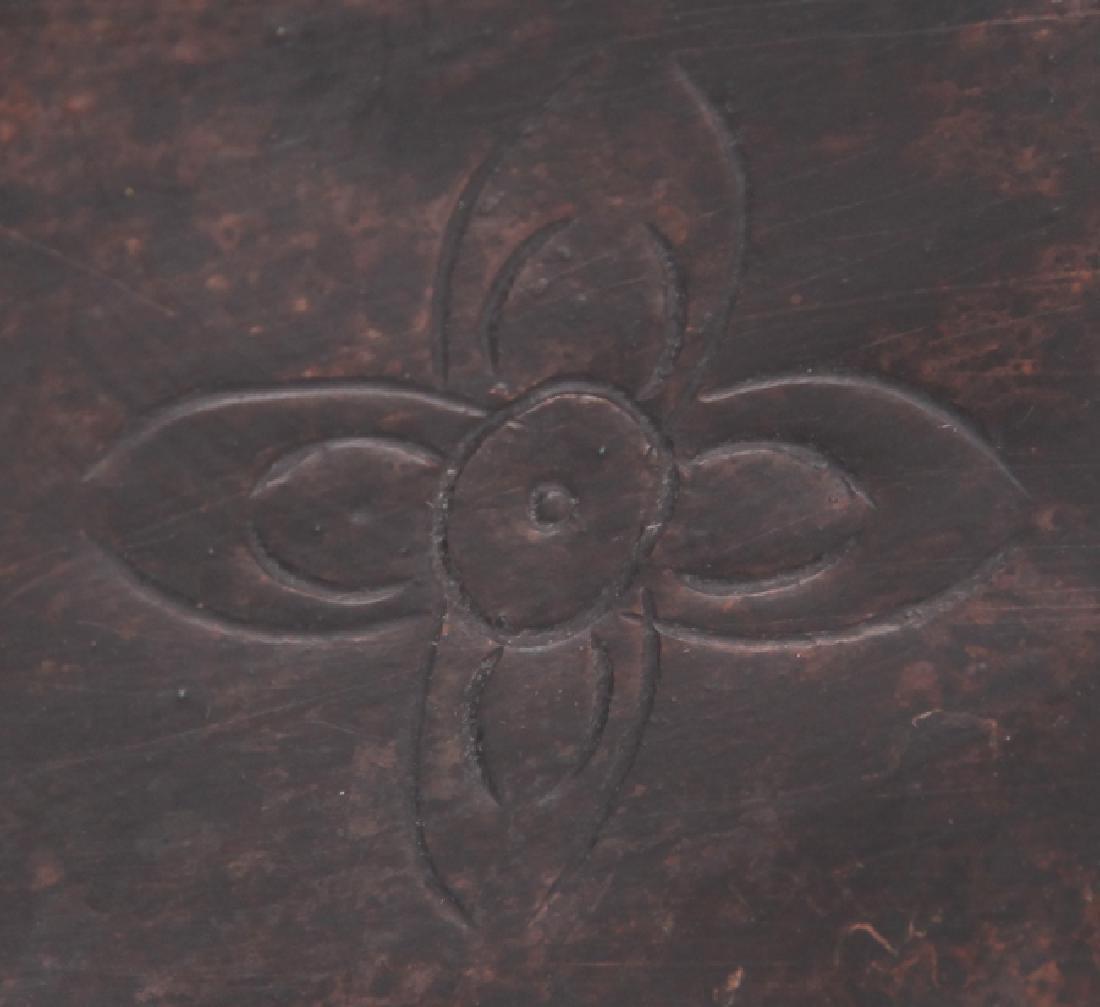 A BRONZE ENAMEL MODEL IN FIGURE OF TAOIST PRIEST - 7