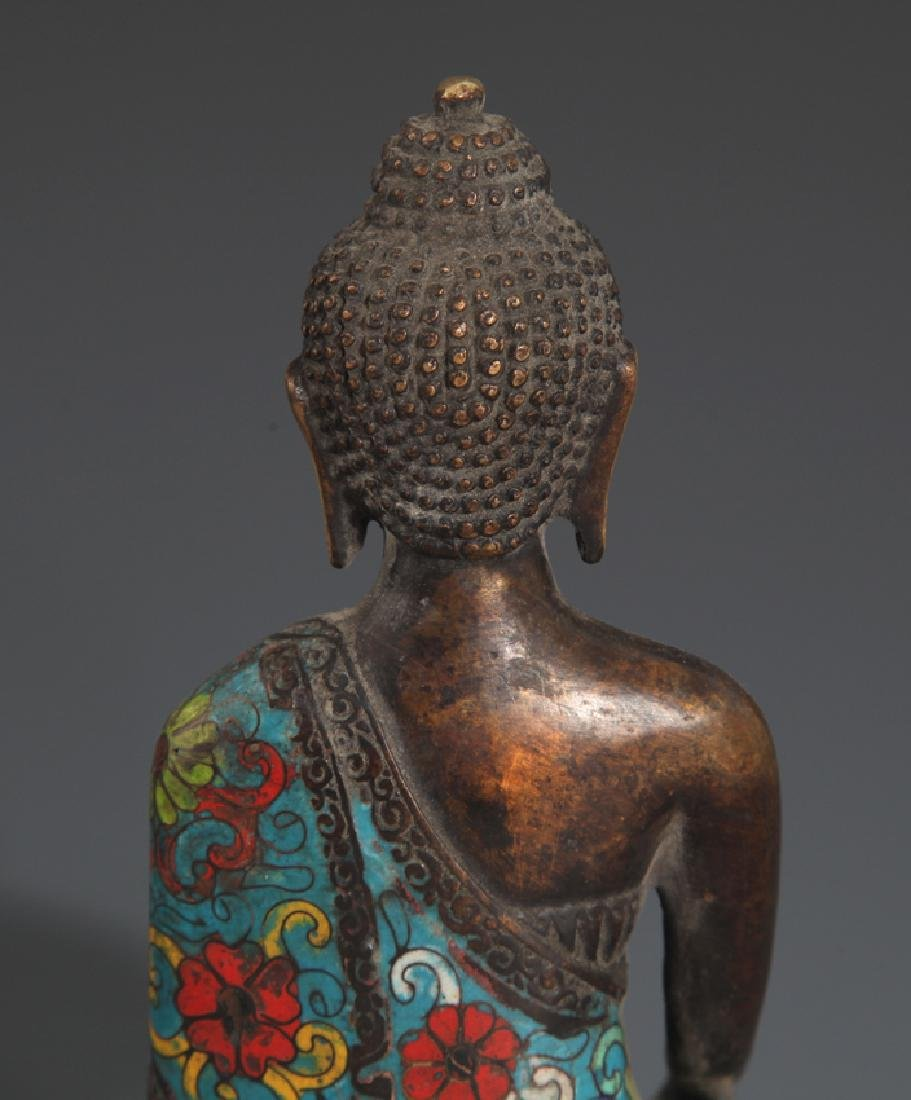 A FINE AND COLORFUL BRONZE BUDDHA - 5