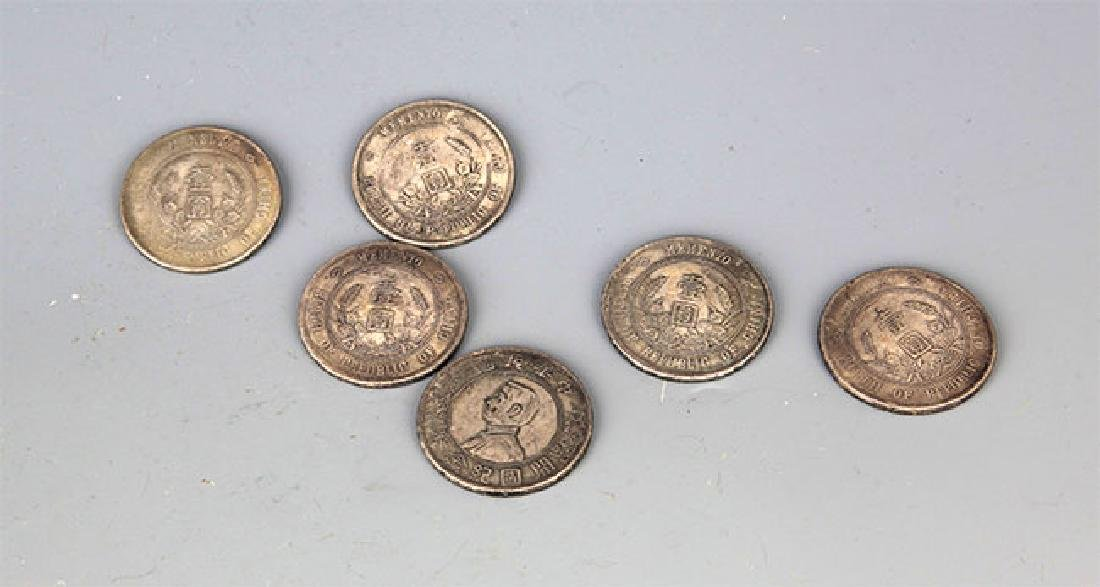 GROUP OF SIX OLD CHINESE MONEY - 3