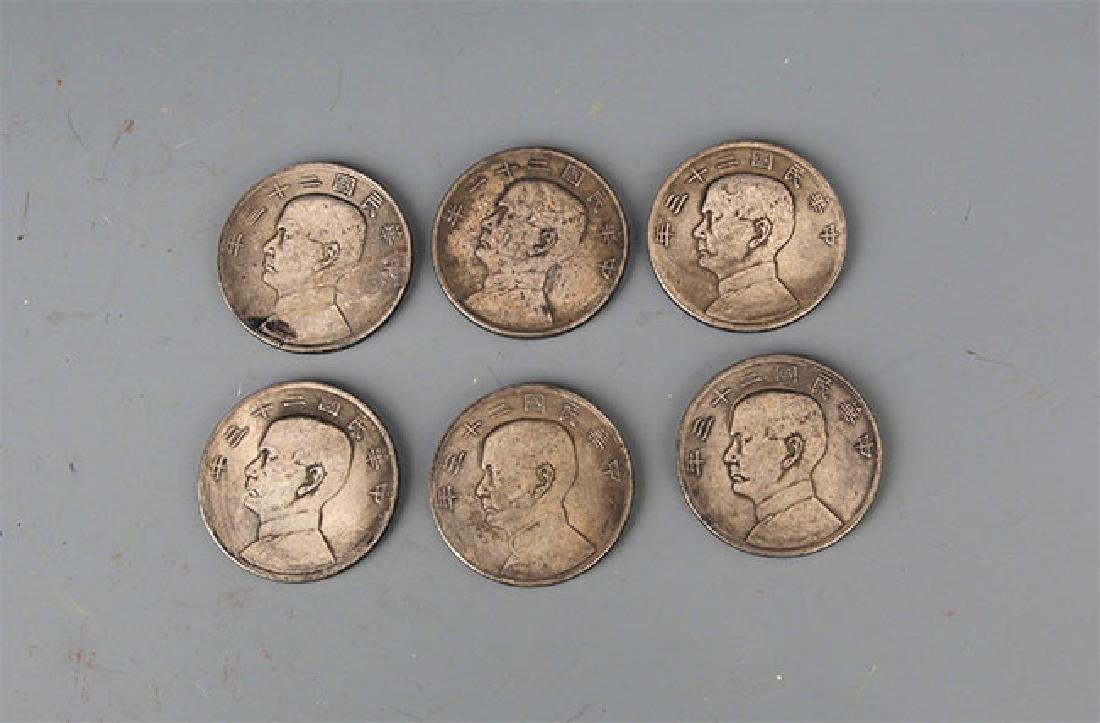 A GROUP OF NINE REPUBLIC PERIOD SILVER COIN - 2