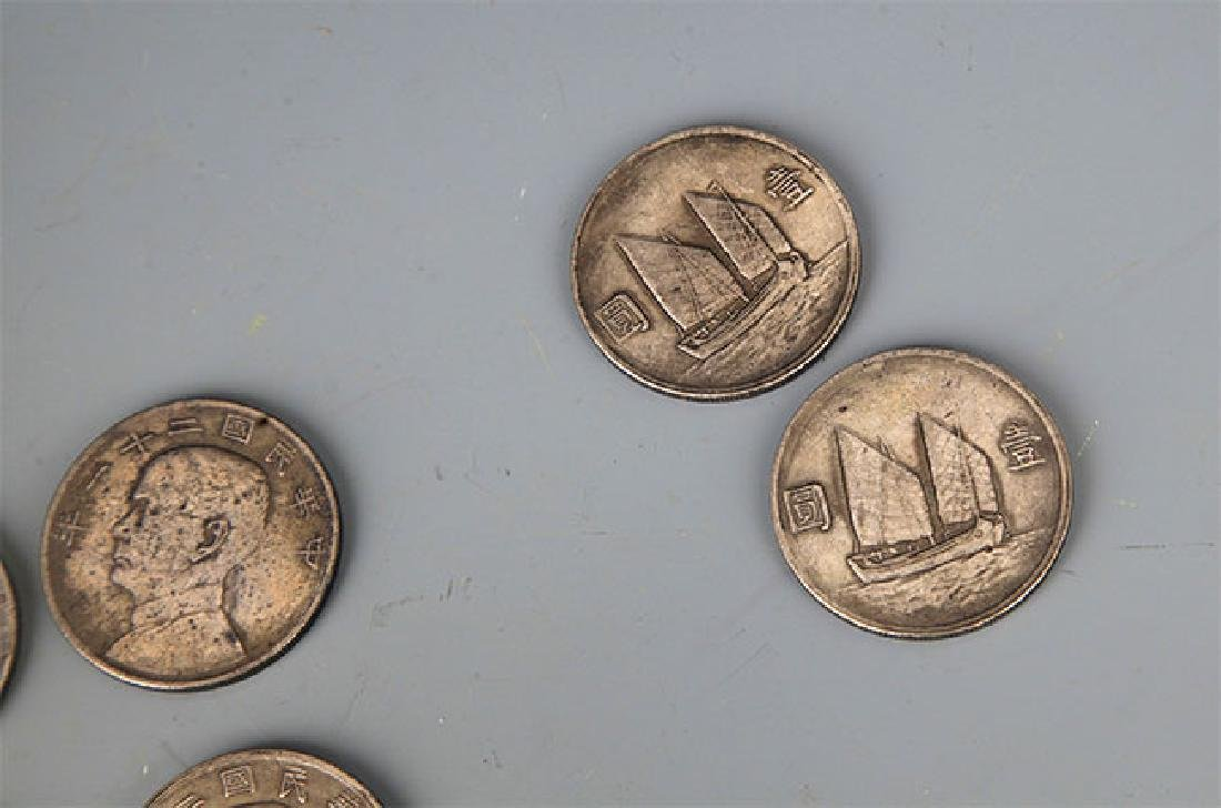 A GROUP OF NINE REPUBLIC PERIOD SILVER COIN - 3